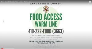 Anne Arundel Launches Food Access Warm Line