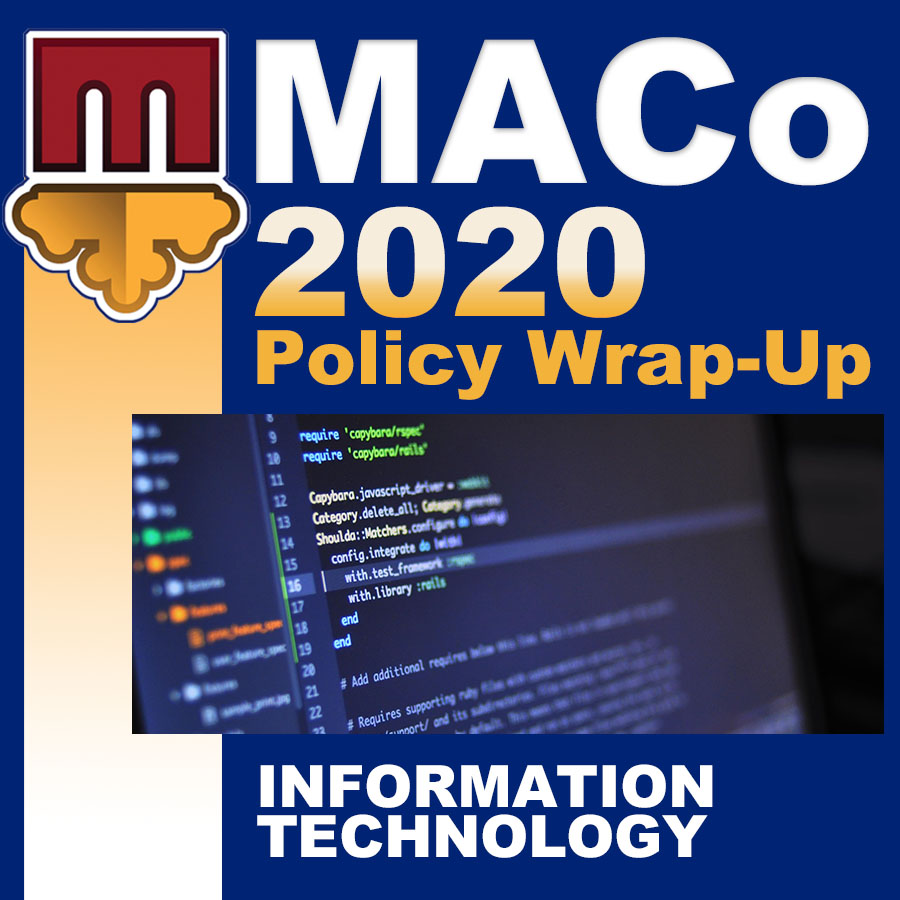 2020 End of Session Wrap-Up: Information Technology