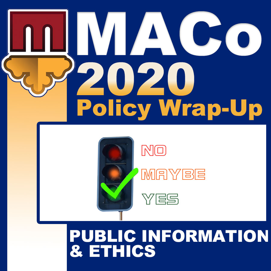 2020 End of Session Wrap-Up: Public Information & Ethics
