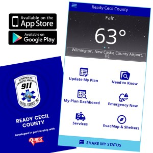 """Cecil Dept of Emergency Services Launches """"Ready Cecil"""" App"""