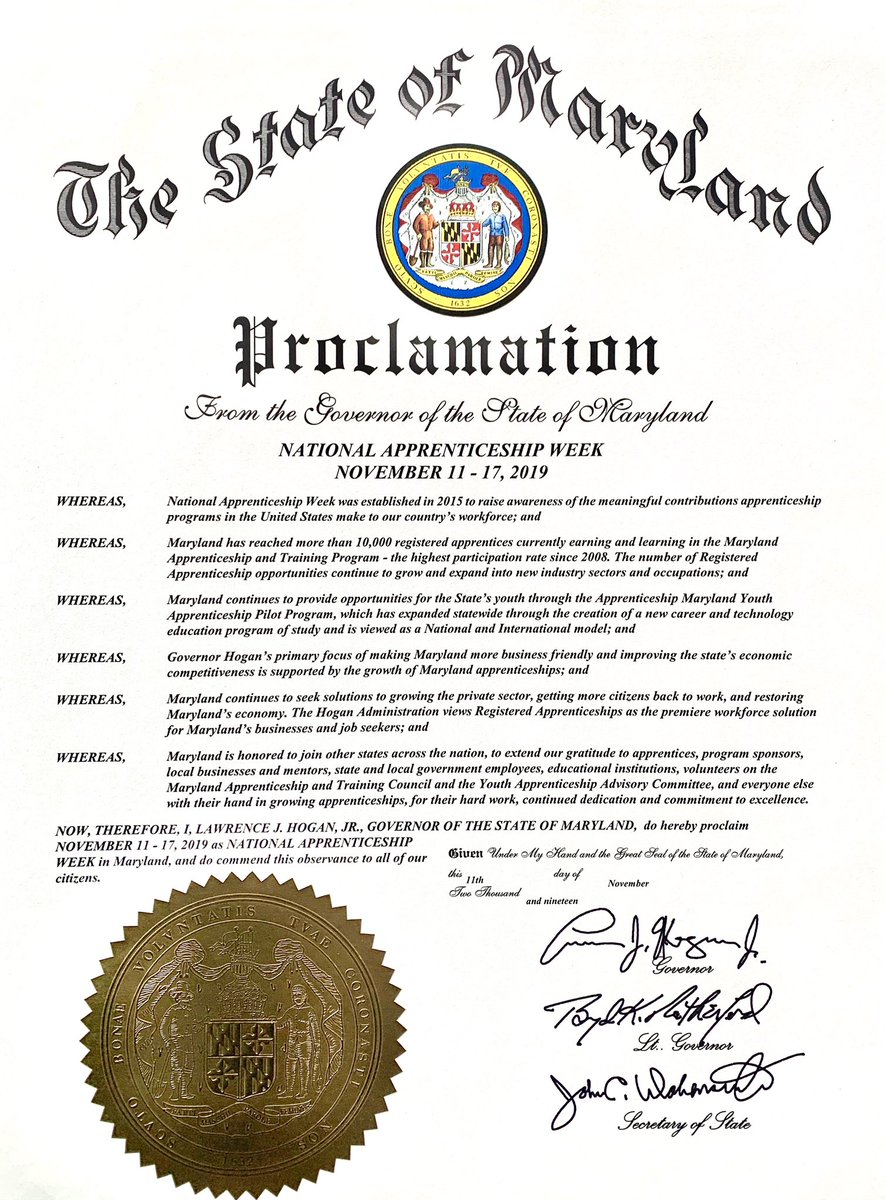 Maryland's National Apprenticeship Week
