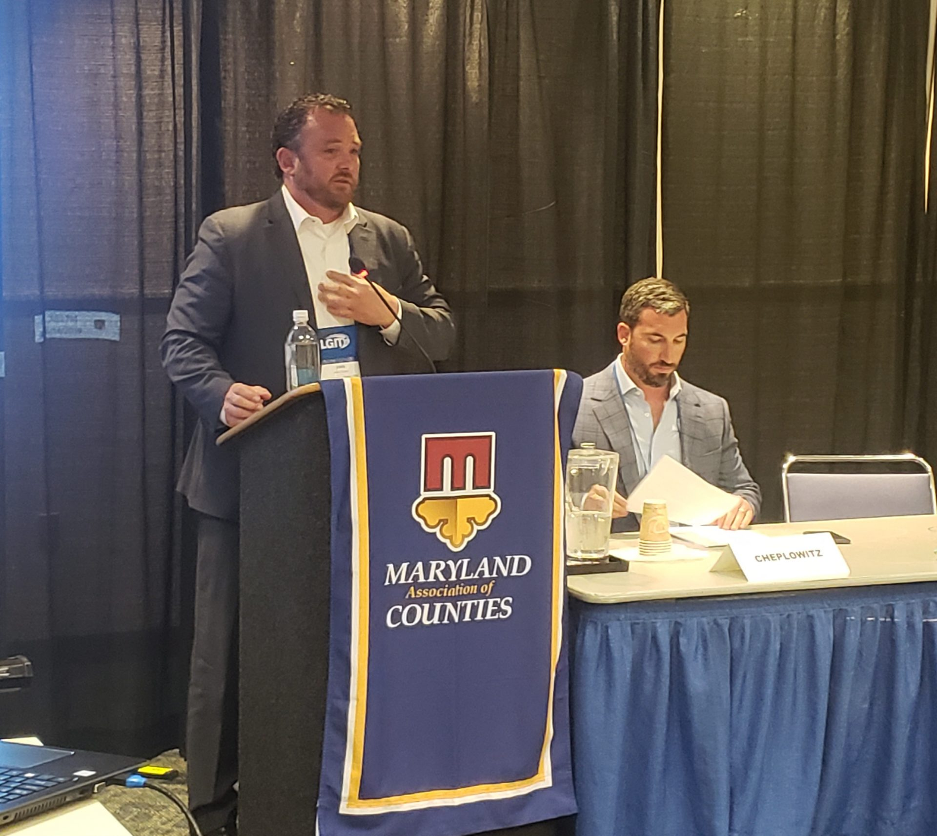 County Officials and Chief Information Security Officer John Evans Connect at Cybersecurity Forum