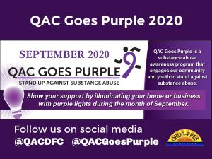 "Queen Anne's Will ""Go Purple"" for Substance Abuse Awareness"