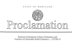 Hogan Extends State of Emergency, Catastrophic Health Emergency
