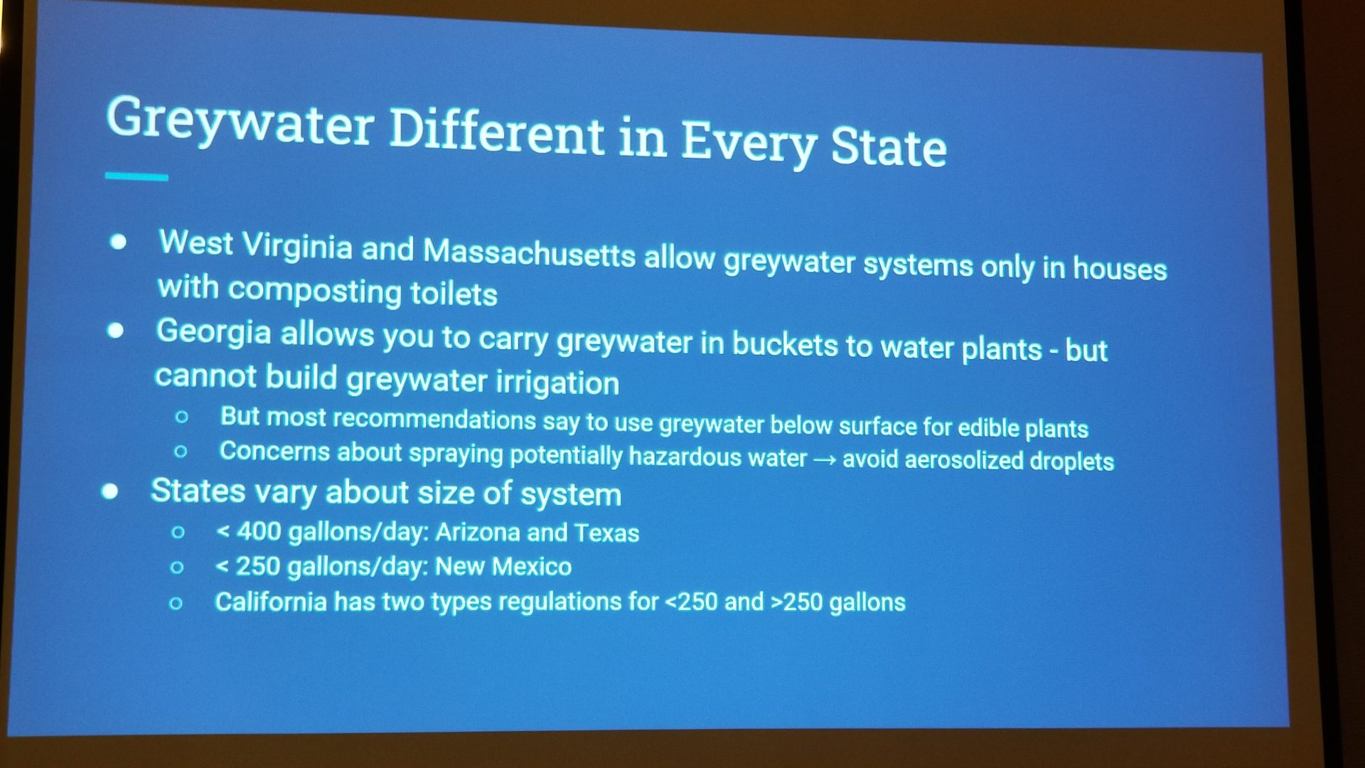 #MACoCon Attendees Learn About Graywater Reuse