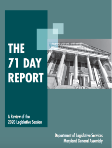 Major Issues & More – 71 Day Report Reviews the 2020 Legislative Session