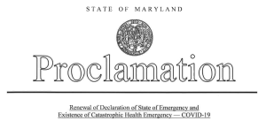 Hogan Renews COVID-19 Emergency Orders