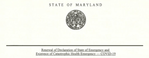 Hogan Renews COVID-19 Emergency Orders
