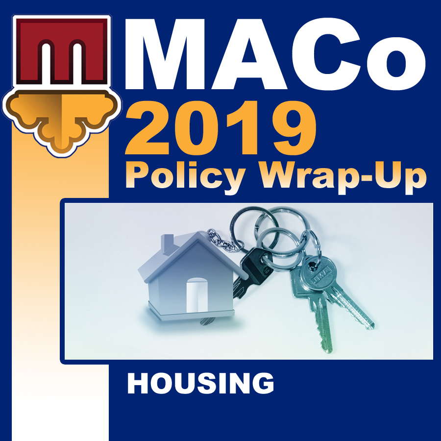 2019 End of Session Wrap-Up: Housing and Community Development