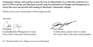 MACo to State: Don't Shortchange Community Colleges