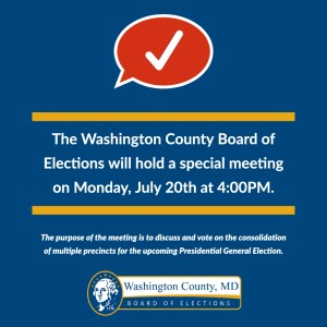 Washington County Board of Elections to Consider Consolidating Precincts Due to Shortage of Poll Workers