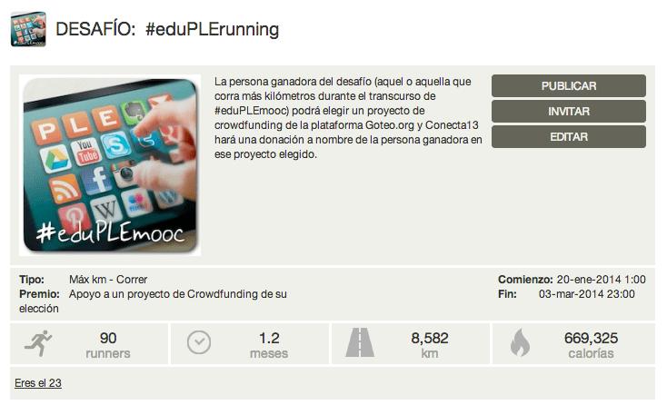 ¡Corre, corre, #eduPLErunning, corre!