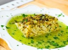 bacalao en salsa verde.