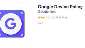 Google Device Policy na AppStore