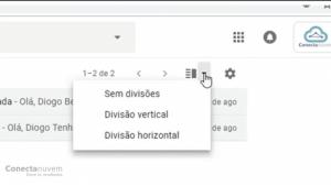 selecione a visualização do Gmail que deseja