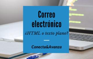 Correo electrónico en html o en texto plano - conecta y avanza
