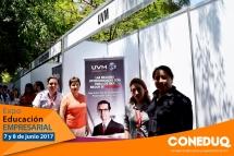 Expo educación empresarial y participantes