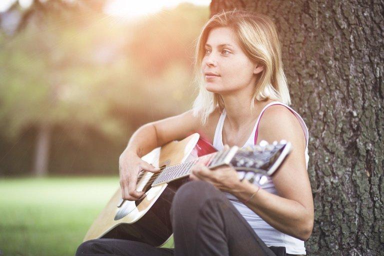 guitar, guitarist, girl