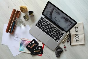 workplace, computer, creative