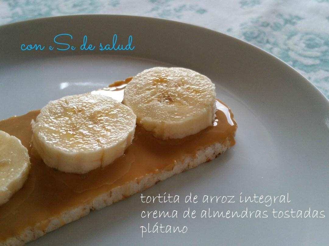 Receta crema de almendras y plátano