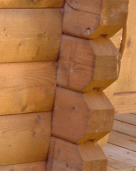 d log profile - log wall joints