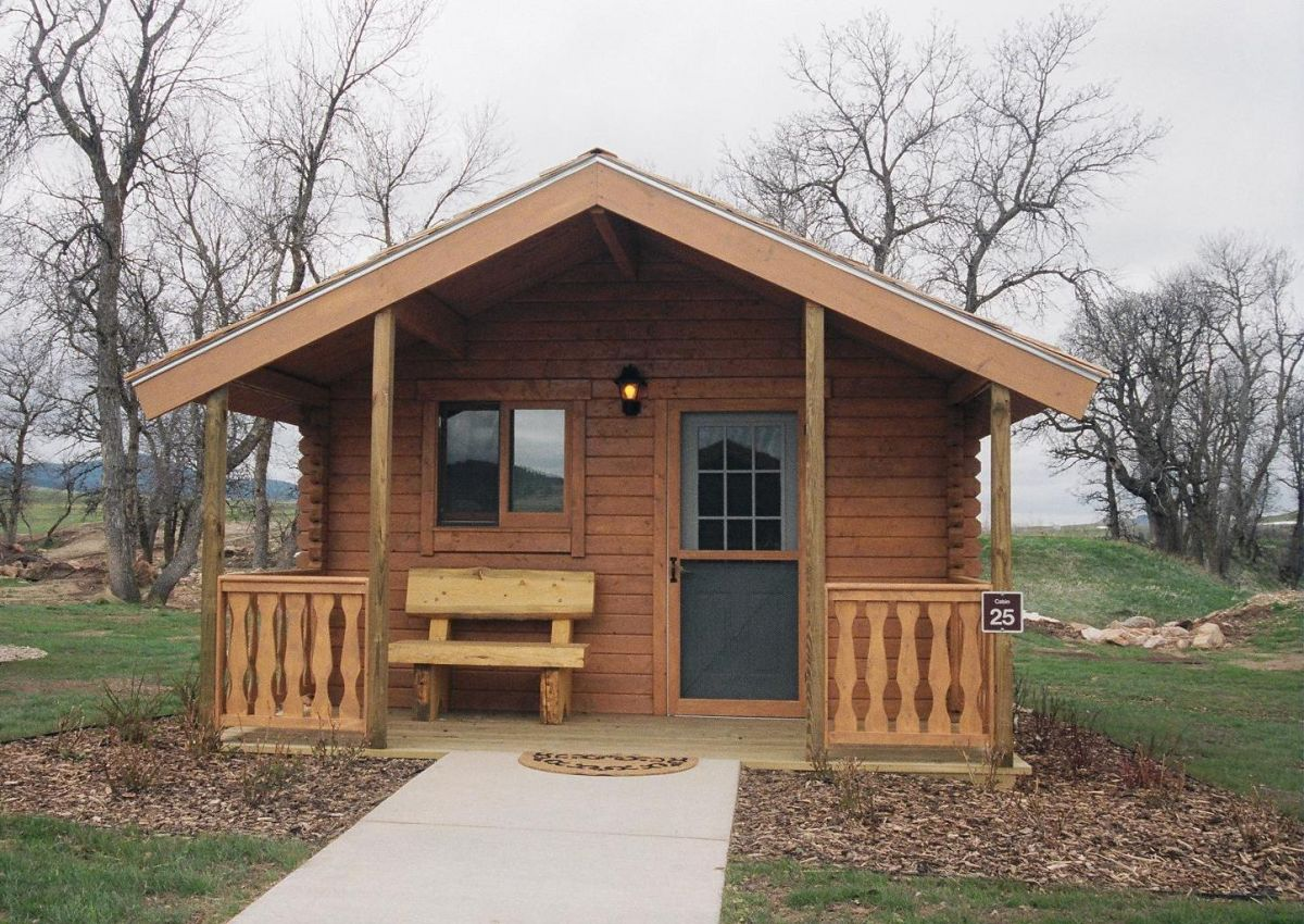 Small log cabin kit spearfish log cabin conestoga log for Single room log cabin kits