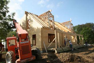 Log cabin kit construction