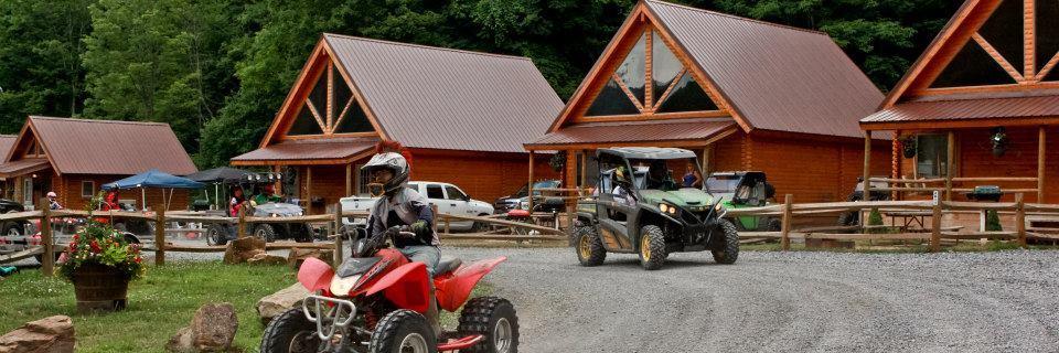 Conestoga log cabins at Ashland Resort