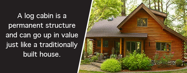 park models - log cabin is valued higher