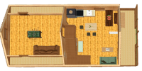log cabin kit floor plan - mountain king