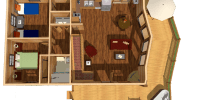 log home kits floor plan - alpine ridge