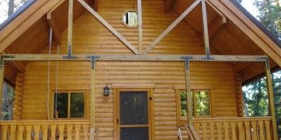 camping cabin exterior