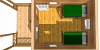 log cabin kits floor plan - conestoga