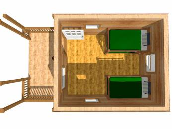 log cabin kits floor plan - conestoga; hunting cabin plans