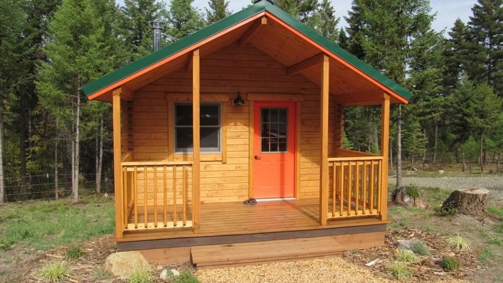camping log cabin kits - serenity