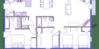 log home kits floor plan - meadowbrook