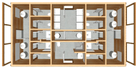 bathhouse log cabin kits floor plan - mountain king bathhouse