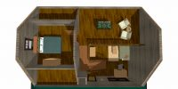log home kits floor plan - silver creek