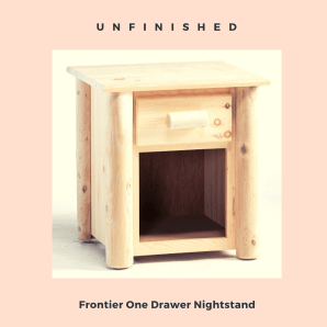 log furniture nightstand