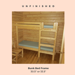 log cabin kit furniture bunk bed frame