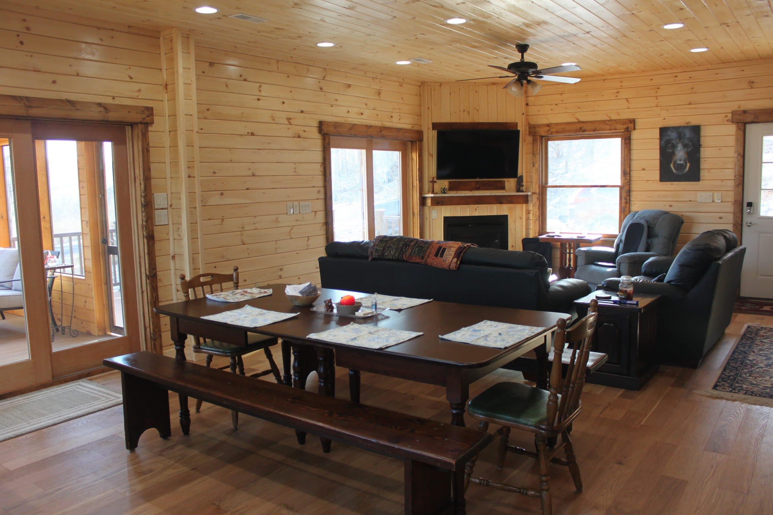 bear den log home great room