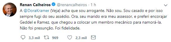 "Renan, a jornalista da Veja e o ""membro mecânico"" 21"