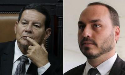 """Mourão afirma que Carlos Bolsonaro sumiu: """"Alguém disse chega"""" 18"""