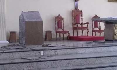Homem é preso no Rio após depredar altar de igreja cristã com golpes de marreta 16