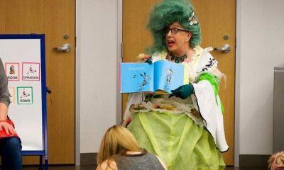 """Escola primária nos EUA testa limite dos pais com """"contadora de histórias"""" drag queen que é prostituta 15"""