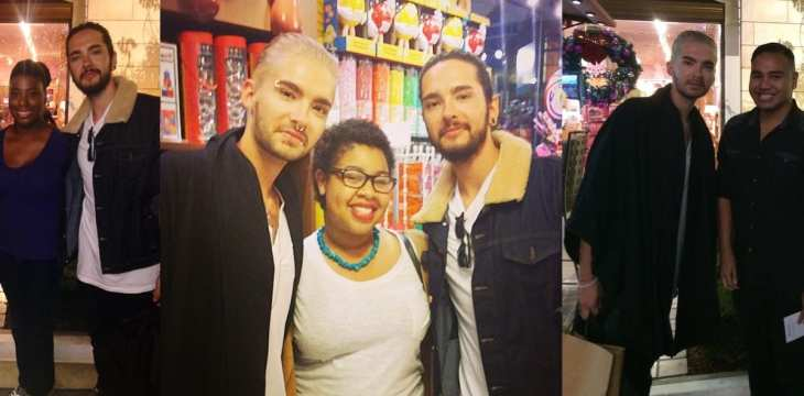 Bill e Tom Kaulitz com fãs em Los Angeles (09.12.2014)