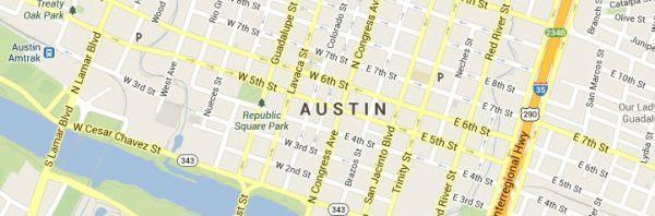 Map of Austin-Texas service area