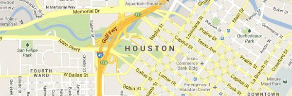 Map of Houston-Texas Service Area