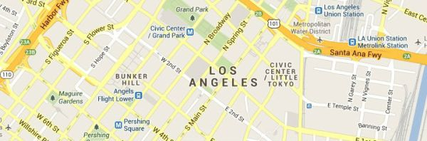 Map of Los-Angeles-California service area