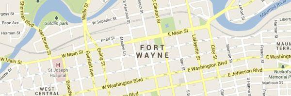 fort wayne-map
